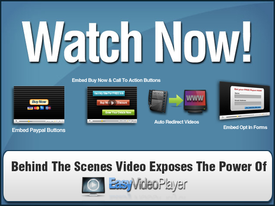 Easy Video Player Demo Video - Please Scroll Down The Web Page...