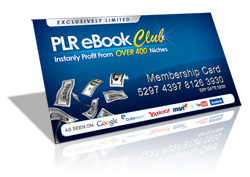 The PLR Ebook Club - Over 400 eBooks and more...